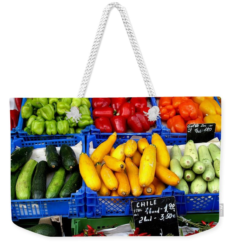 Vegetables Weekender Tote Bag featuring the photograph Vegetables by Ian MacDonald