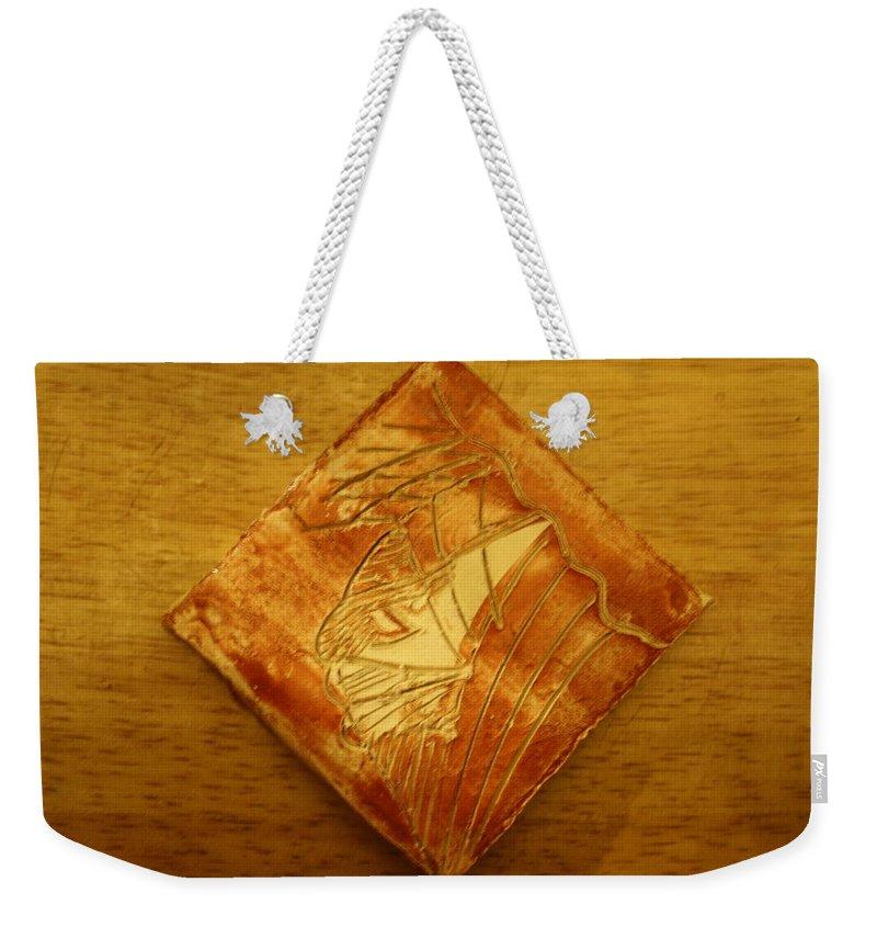 Jesus Weekender Tote Bag featuring the ceramic art Vehicle - Tile by Gloria Ssali