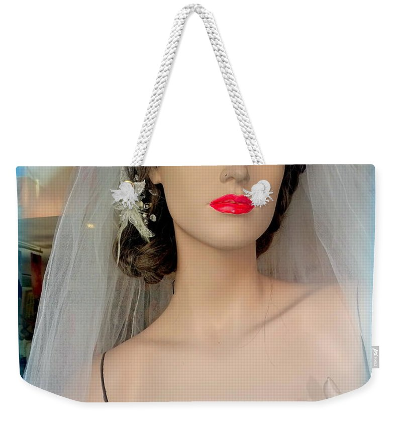 Mannequins Weekender Tote Bag featuring the photograph Veiled Thoughts by Ed Weidman