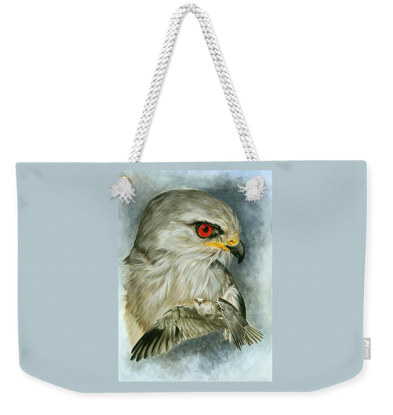 Kite Weekender Tote Bag featuring the mixed media Velocity by Barbara Keith
