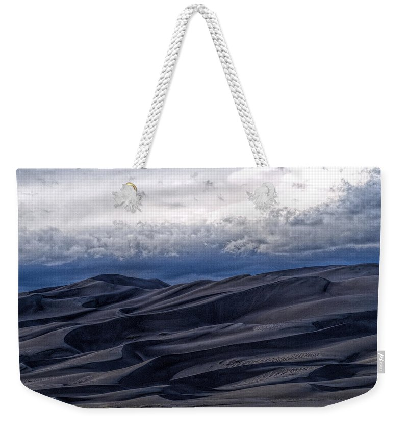 Great Sand Dunes National Park Weekender Tote Bag featuring the photograph Velvet at Night by Alana Thrower