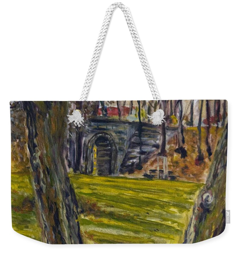 Landscape Weekender Tote Bag featuring the painting Ven Z Parku by Pablo de Choros