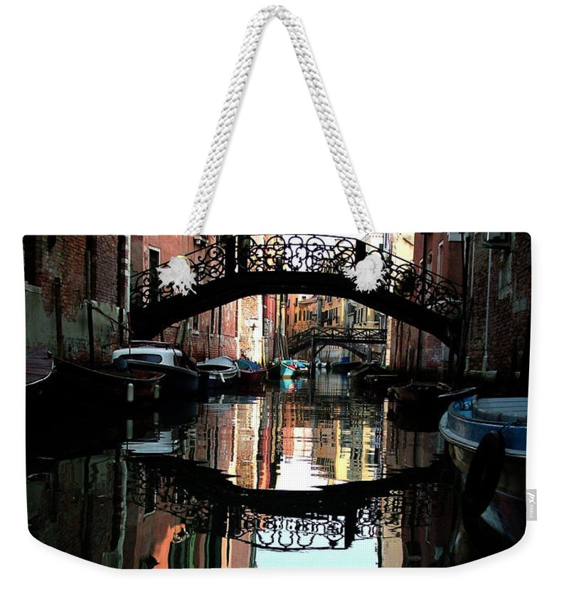 Venice Weekender Tote Bag featuring the photograph Venetian Delight by Donna Corless