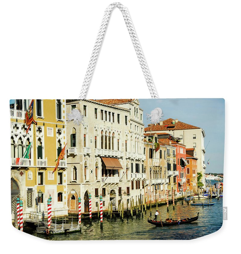 Venice Weekender Tote Bag featuring the photograph Venice Architecture by Mike Valdez