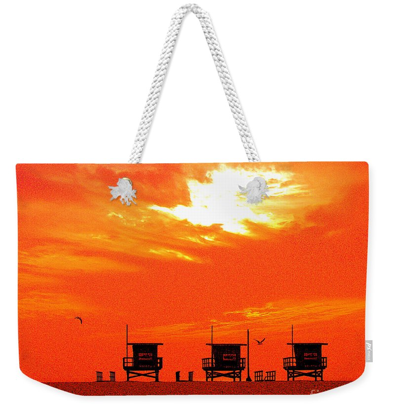 Venice Beach Weekender Tote Bag featuring the photograph Venice Beach by Jerome Stumphauzer