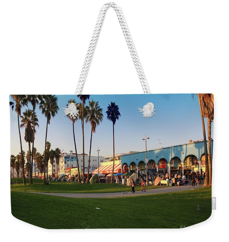 Venice Beach Weekender Tote Bag featuring the photograph Venice Beach by Kelly Holm