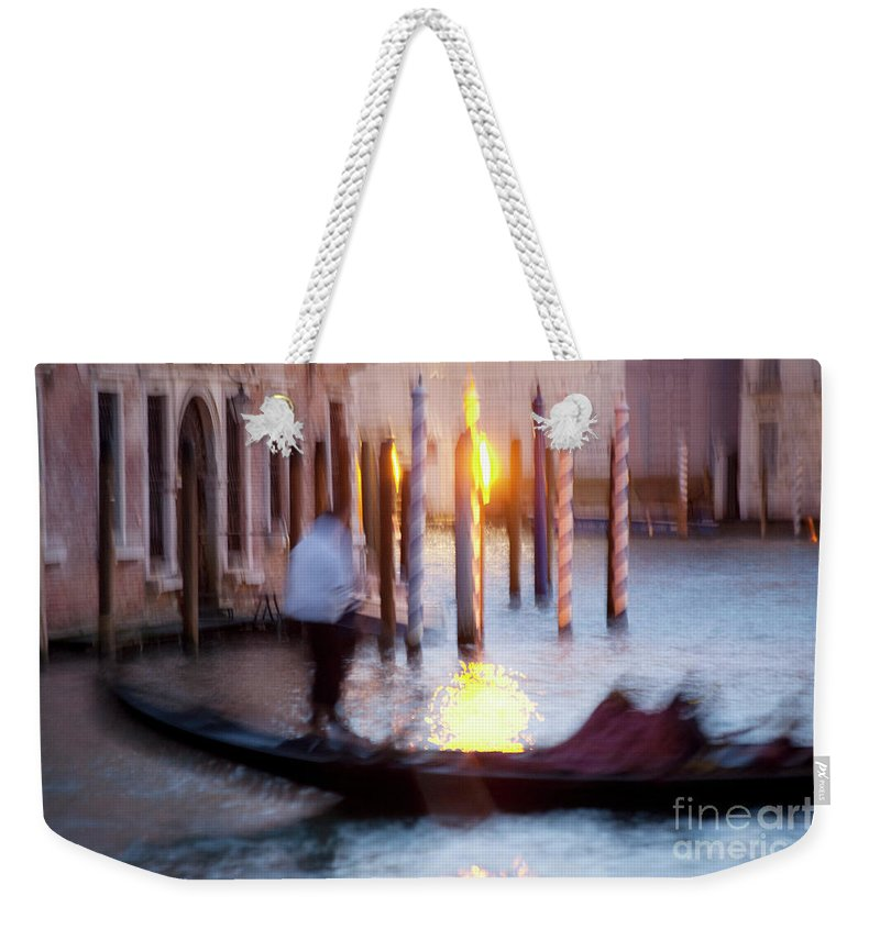 Venice Weekender Tote Bag featuring the photograph Venice Blue Hour 1 by Heiko Koehrer-Wagner