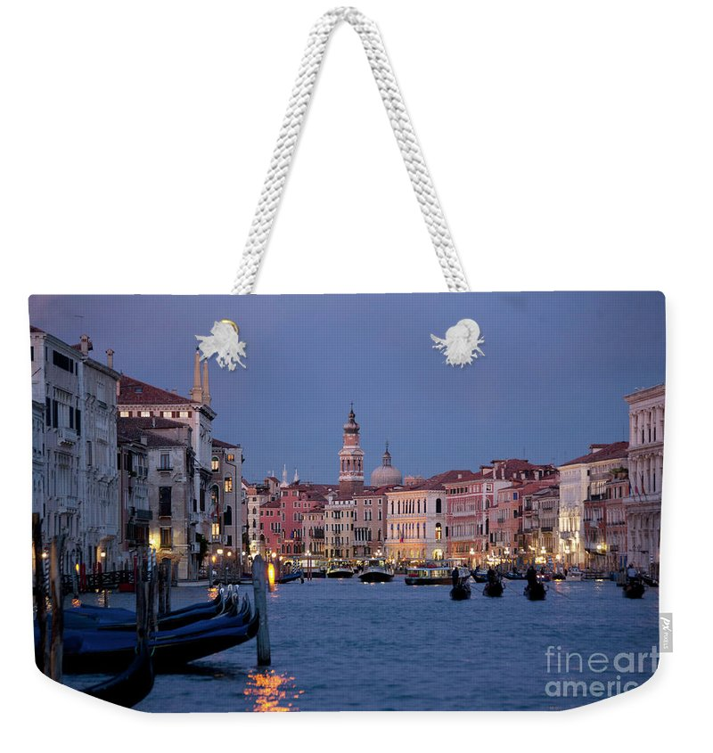 Venice Weekender Tote Bag featuring the photograph Venice Blue Hour 2 by Heiko Koehrer-Wagner