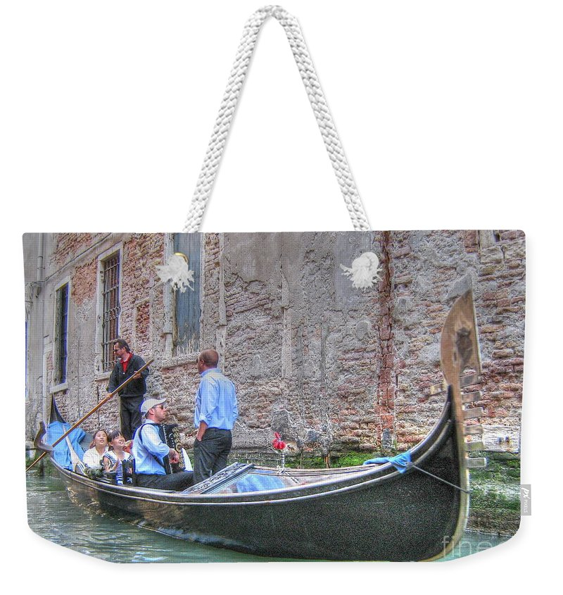 City Weekender Tote Bag featuring the pyrography Venice Channels by Yury Bashkin