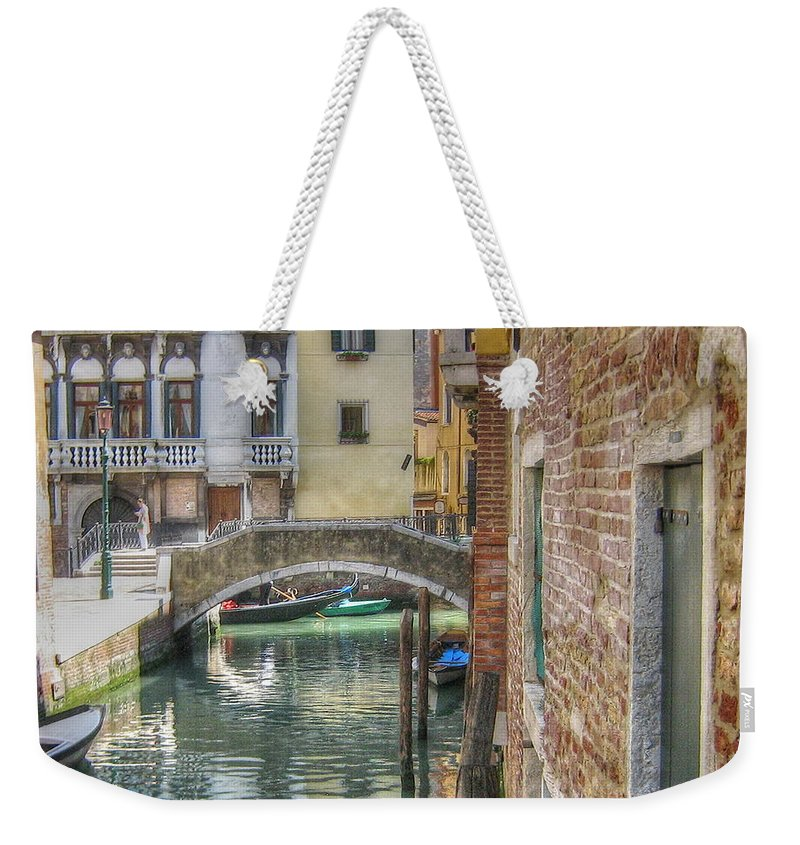 City Weekender Tote Bag featuring the pyrography Venice Channels1 by Yury Bashkin