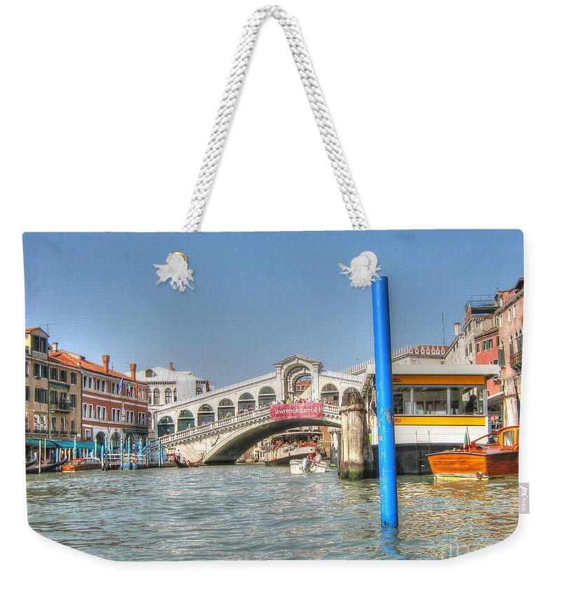 City Weekender Tote Bag featuring the pyrography Venice Channelssssss by Yury Bashkin