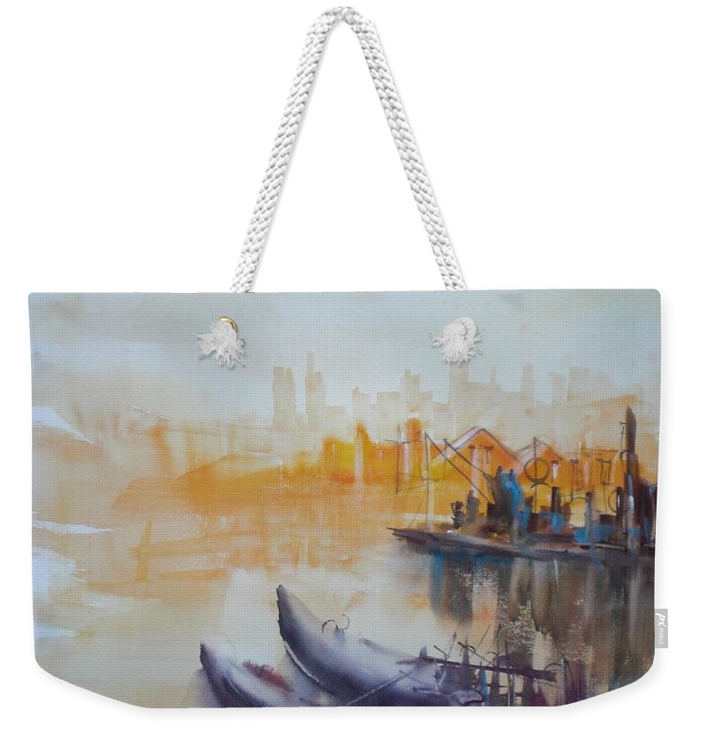 Venice Weekender Tote Bag featuring the painting Venice by Giorgio Gosti