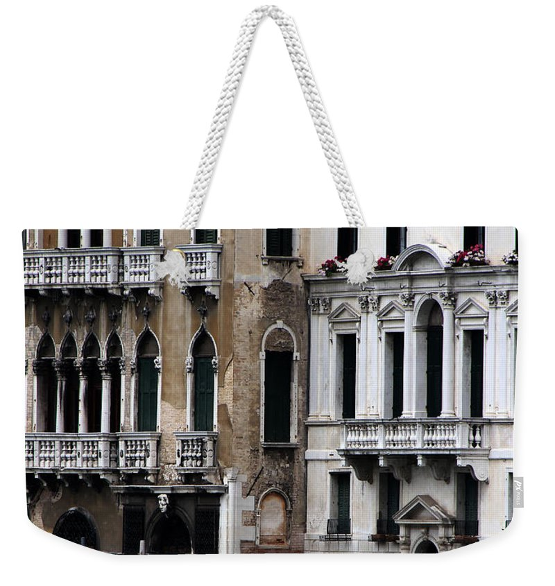 Venice Weekender Tote Bag featuring the photograph Venice Gondolier 2 by Andrew Fare