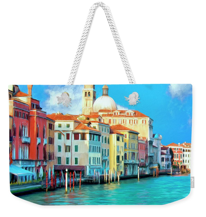 Grand Canal Weekender Tote Bag featuring the painting Venice Grand Canal by Dominic Piperata