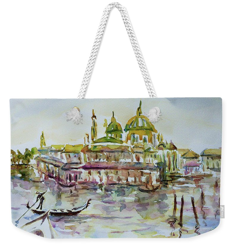 Watercolour Weekender Tote Bag featuring the painting Venice Impression Iv by Xueling Zou