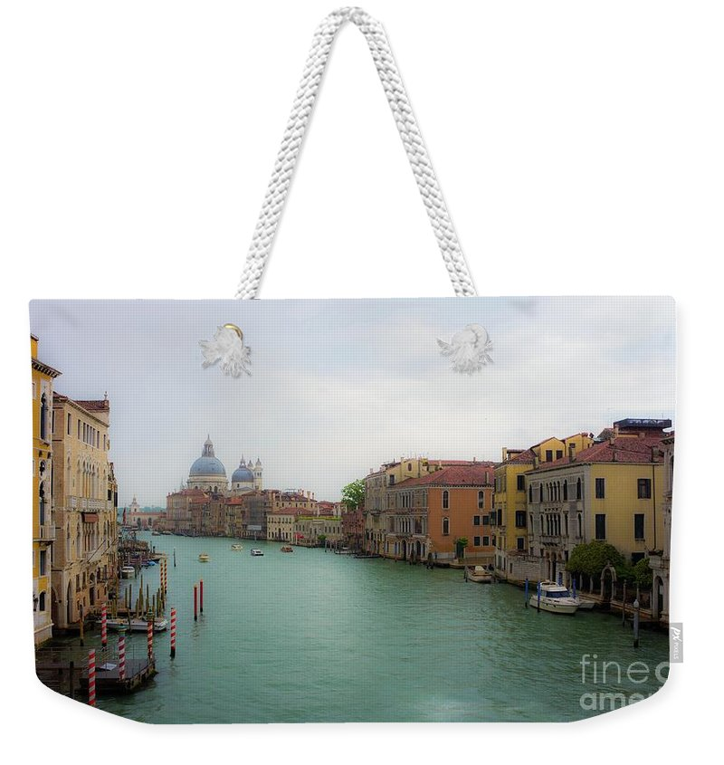 Venice Weekender Tote Bag featuring the photograph Venice In The Rain by Starflower Photography