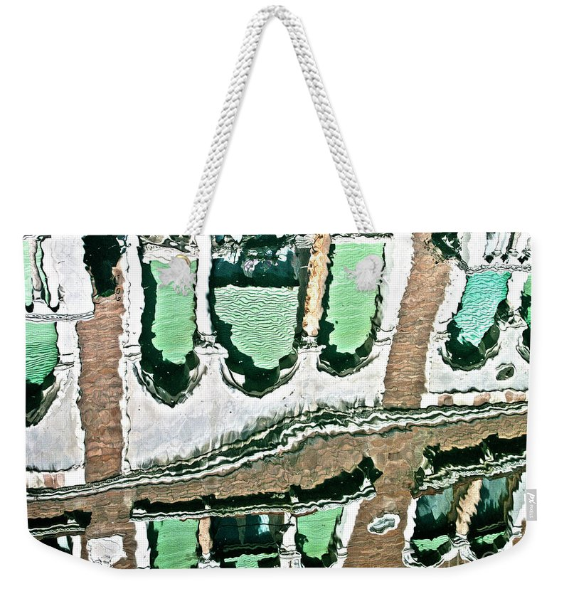 Water Weekender Tote Bag featuring the photograph Venice Upside Down 2 by Heiko Koehrer-Wagner