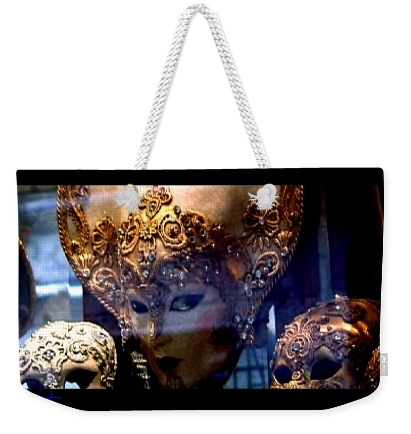 Venice Weekender Tote Bag featuring the photograph Venician Masks by Charles Stuart