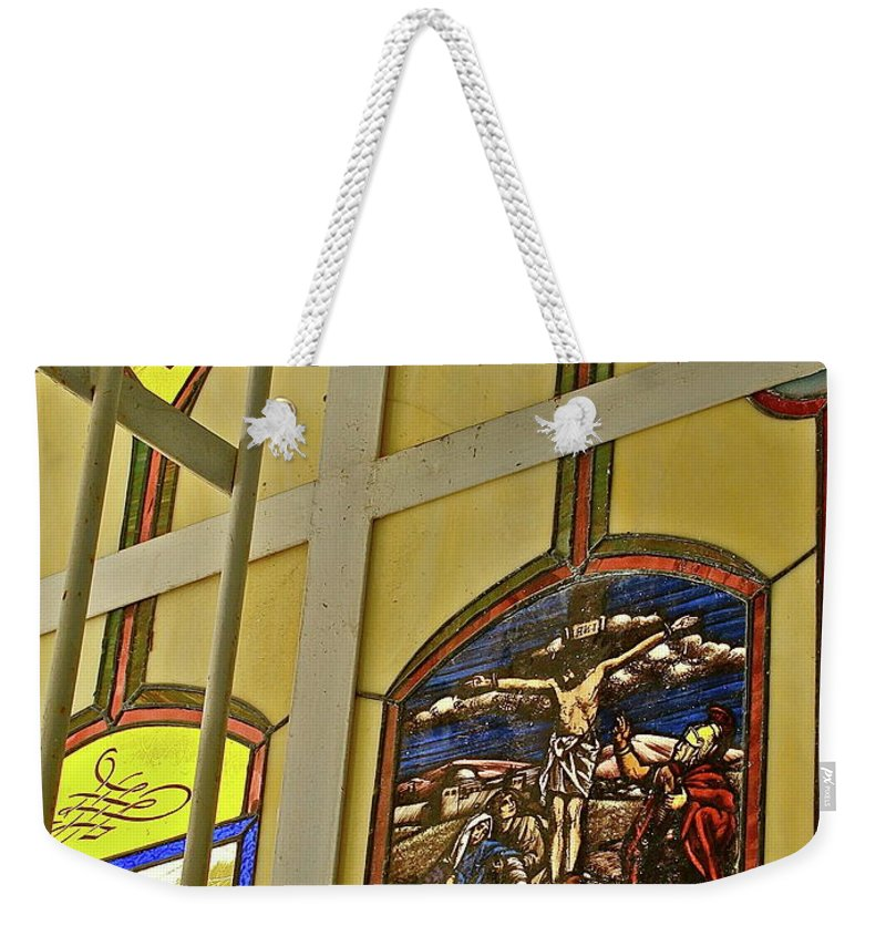 Church Weekender Tote Bag featuring the photograph Ventana Dos by Diana Hatcher