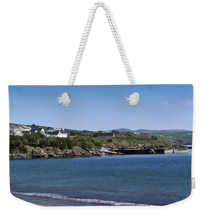 Irish Weekender Tote Bag featuring the photograph Ventry Beach And Harbor Ireland by Teresa Mucha