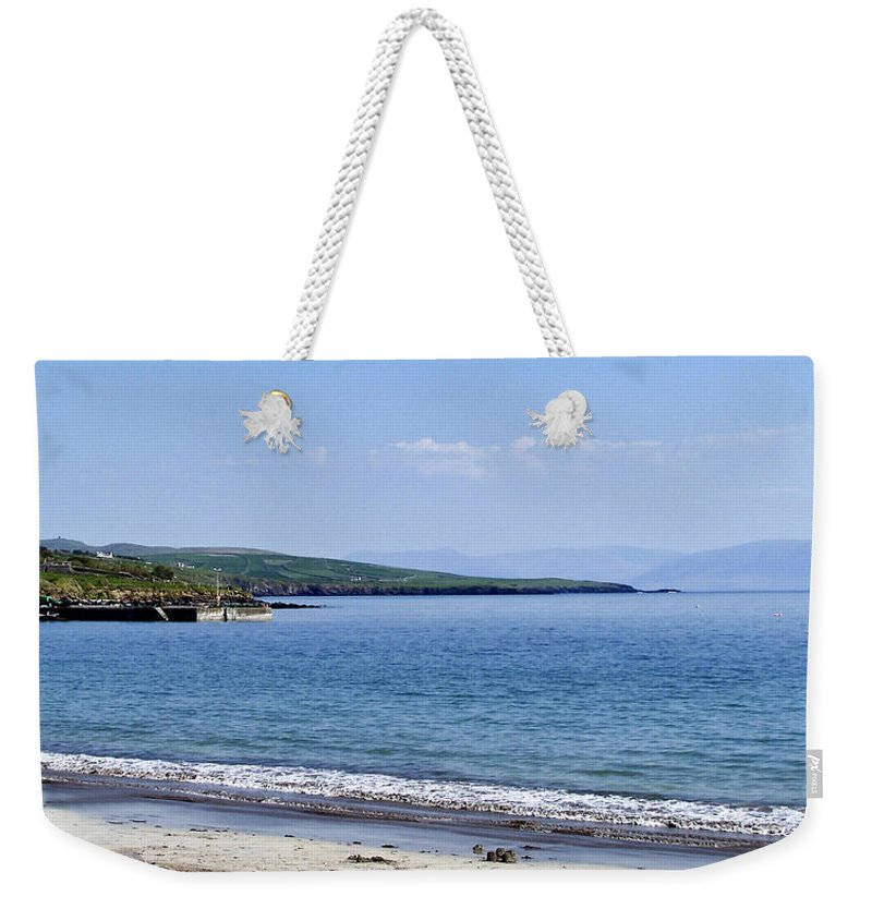 Irish Weekender Tote Bag featuring the photograph Ventry Harbor On The Dingle Peninsula Ireland by Teresa Mucha