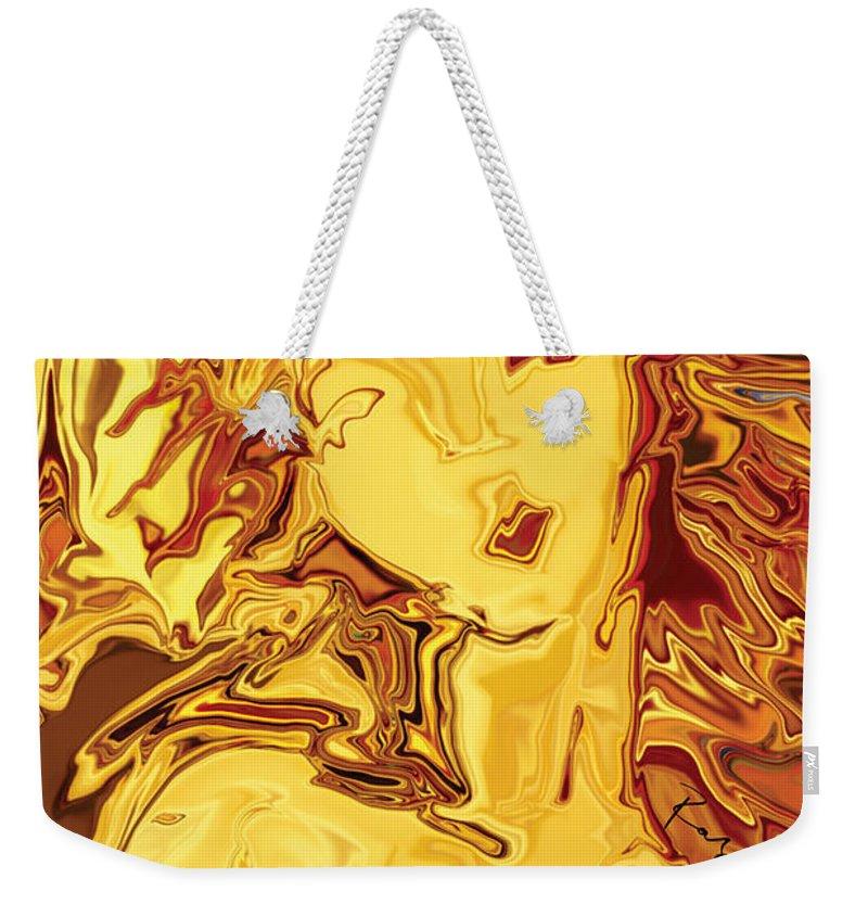 Weekender Tote Bag featuring the digital art Venus 2008 by Rabi Khan