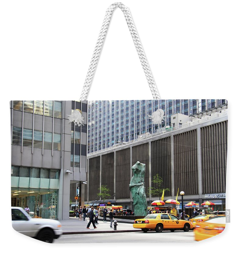 Sculpture Weekender Tote Bag featuring the photograph New York's Venus De Milo by Yvonne Wright