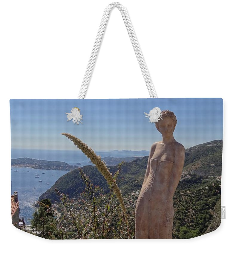 Weekender Tote Bag featuring the photograph Venus In Eze's Garden by Andres Chauffour