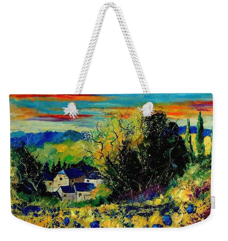 Tree Weekender Tote Bag featuring the painting ver by Pol Ledent