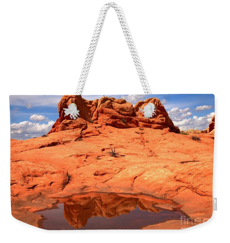 Coyote Buttes Reflections Weekender Tote Bag featuring the photograph Vermilion Cliffs Reflections by Adam Jewell