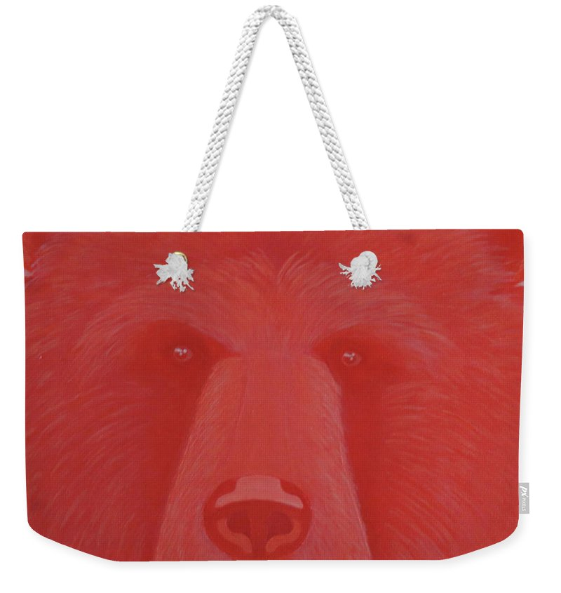 Vermillion Bear Weekender Tote Bag