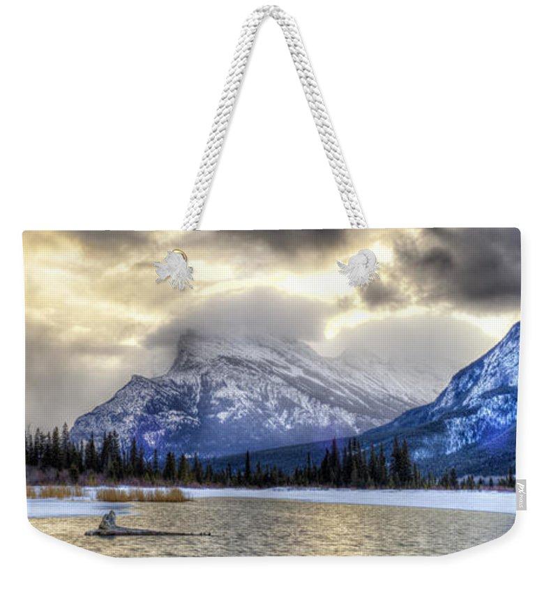Landscape Weekender Tote Bag featuring the photograph Vermillion Vista by Michael Ritz