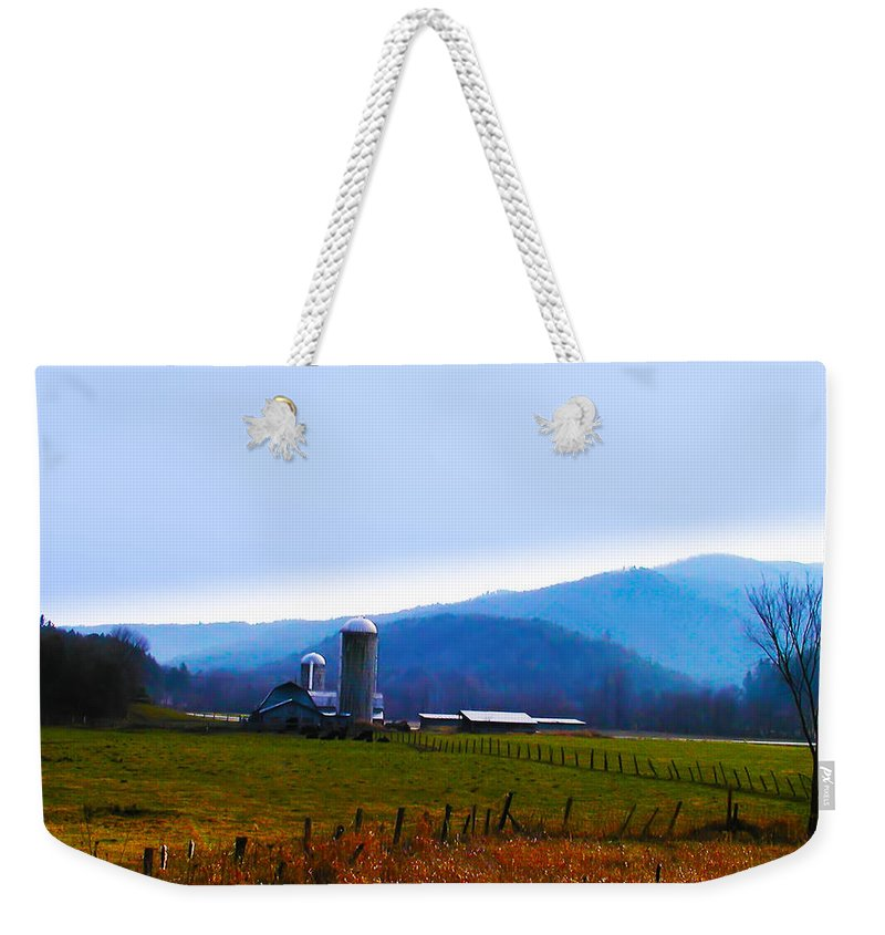 Vermont Weekender Tote Bag featuring the photograph Vermont Farm by Bill Cannon