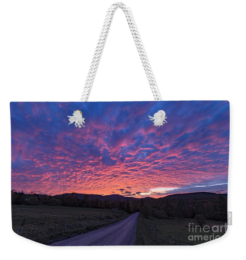 Vermont Weekender Tote Bag featuring the photograph Vermont Sunset by Richard Sandford