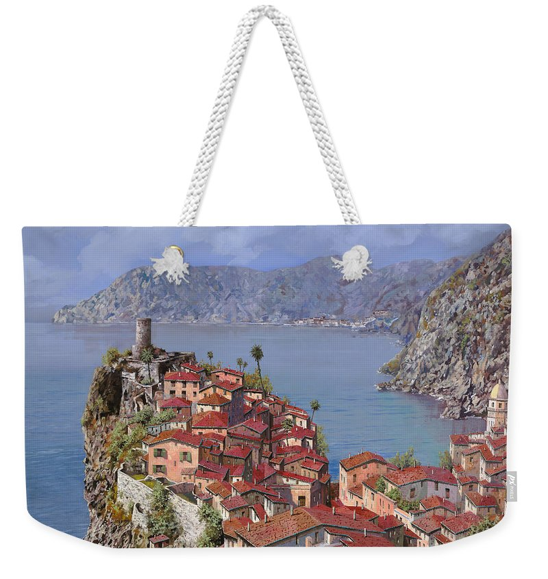 Seascapes Weekender Tote Bag featuring the painting Vernazza-cinque Terre by Guido Borelli