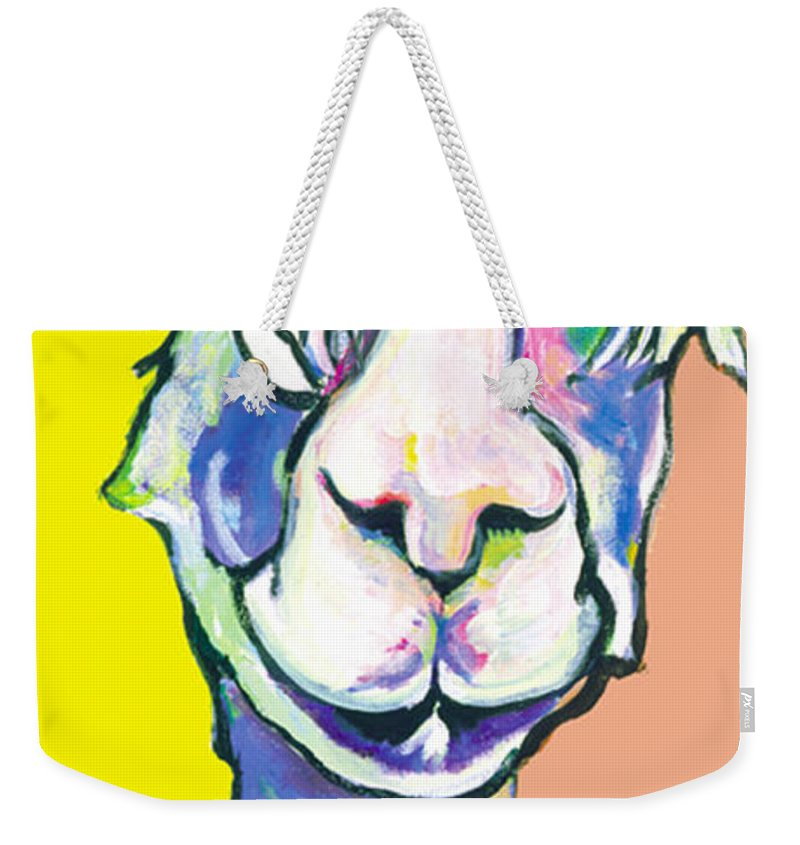 Mountain Animal Weekender Tote Bag featuring the painting Veronica by Pat Saunders-White