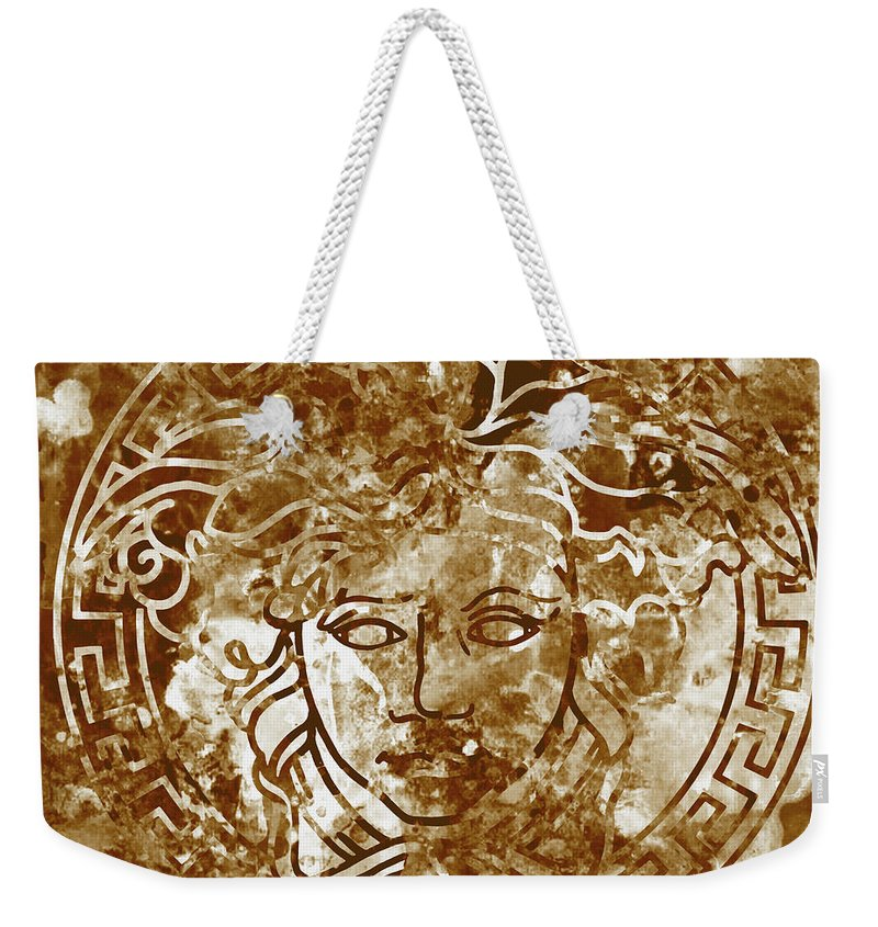 8d48090e6a82e Versace Poster Braun Weekender Tote Bag for Sale by Del Art