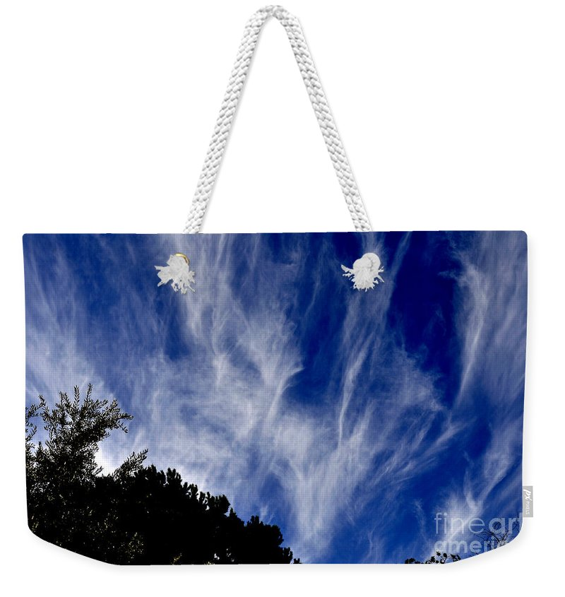 Clay Weekender Tote Bag featuring the photograph Vertical Clouds by Clayton Bruster