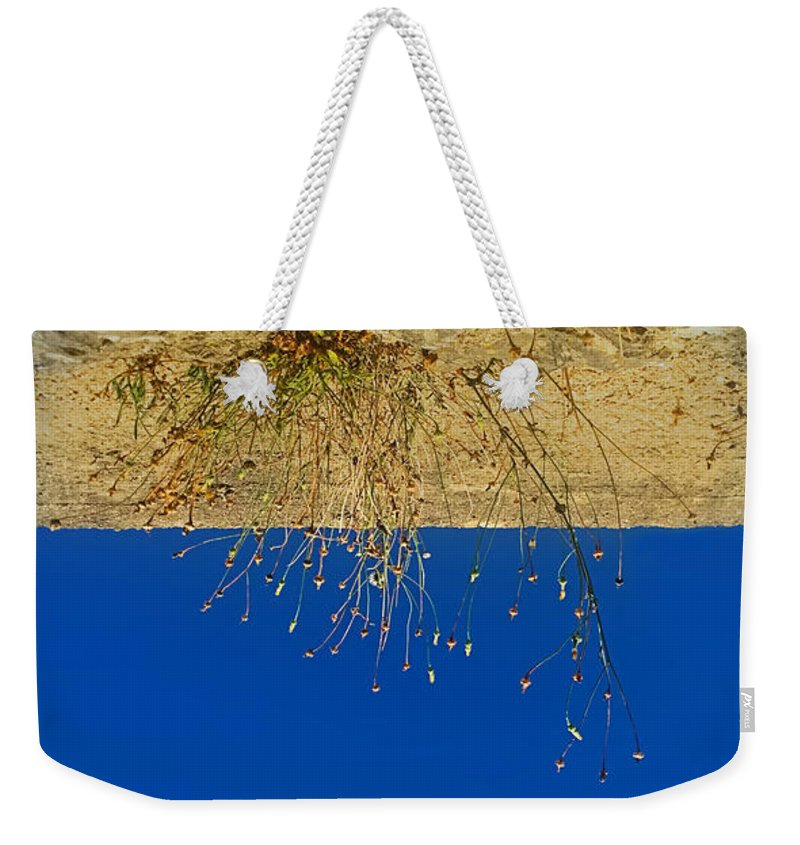 Deep Blue Sky Weekender Tote Bag featuring the photograph Vertigo II by Jasna Buncic