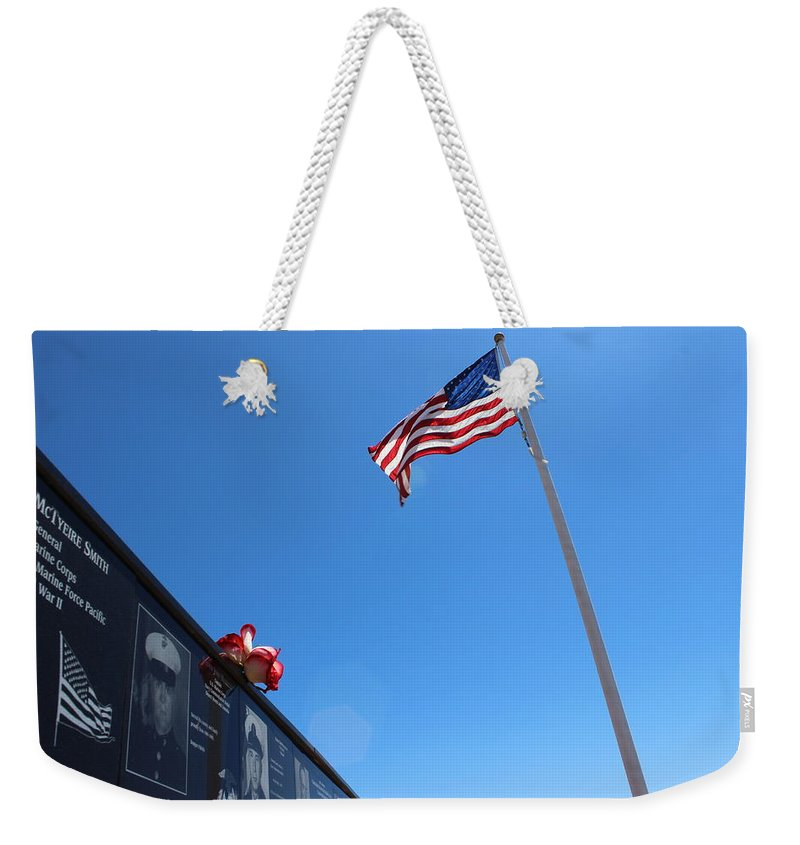 Veteran Weekender Tote Bag featuring the photograph Veteran Tribute by FlyingFish Foto