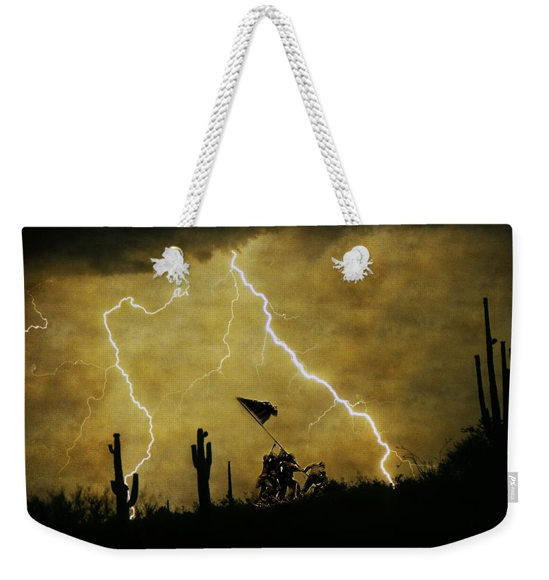 Veterans Weekender Tote Bag featuring the photograph Desert Storm by James BO Insogna