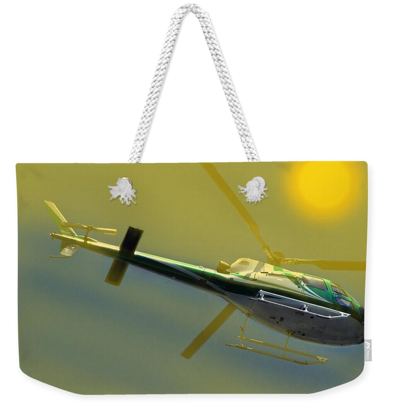 350 Weekender Tote Bag featuring the photograph Vh Lee Flying In The Sun by Miroslava Jurcik