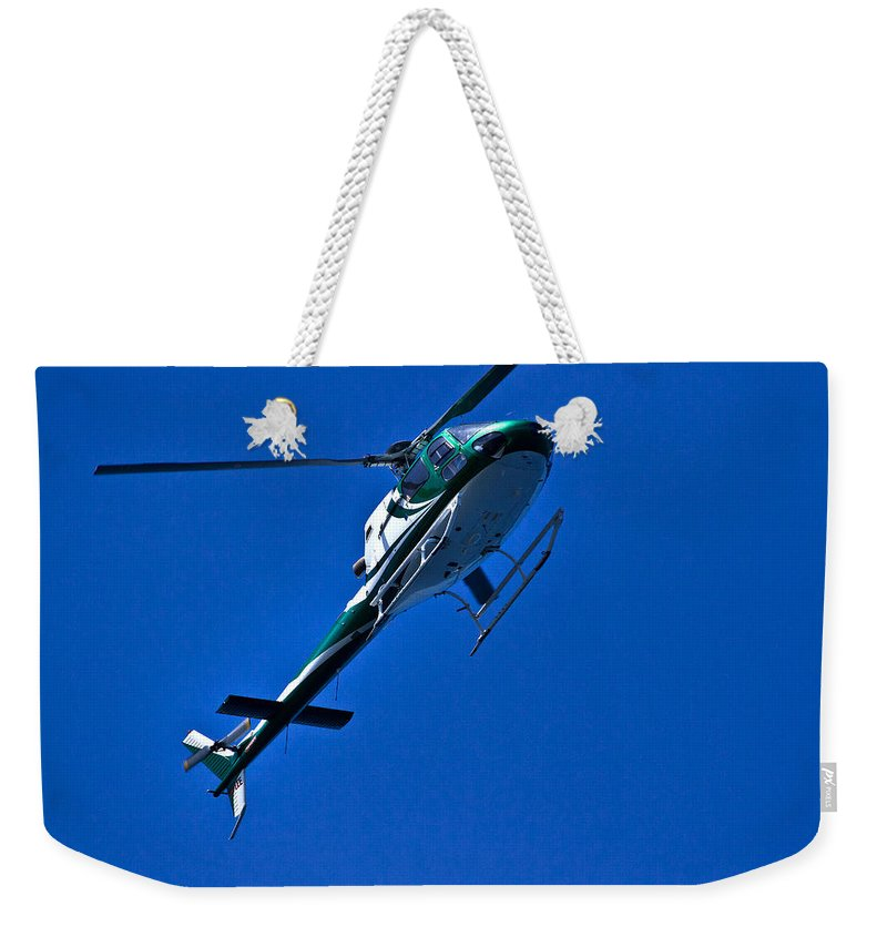 Helicopter Weekender Tote Bag featuring the photograph Vh Lee Going Up by Miroslava Jurcik
