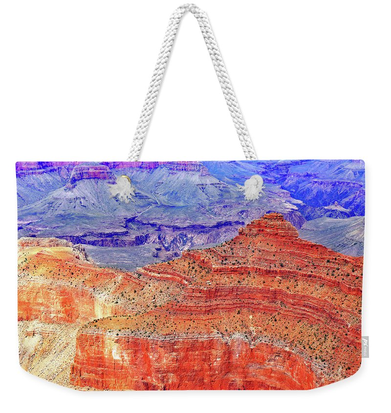 Grand Canyon National Park Weekender Tote Bag featuring the photograph Vibrance by Iryna Goodall