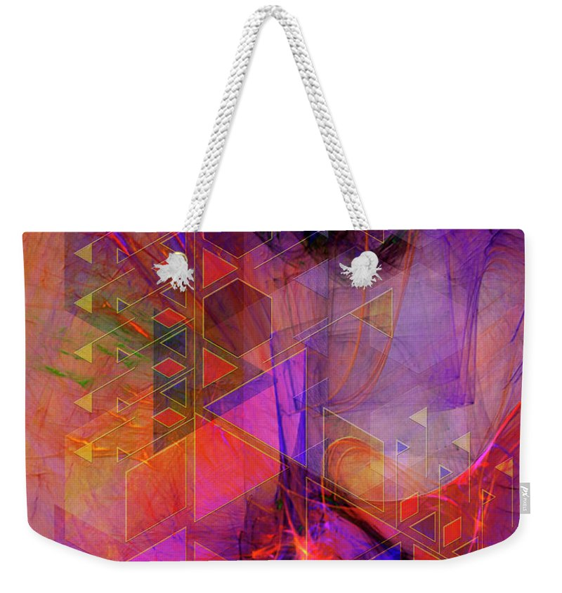Vibrant Echoes Weekender Tote Bag featuring the digital art Vibrant Echoes by John Beck