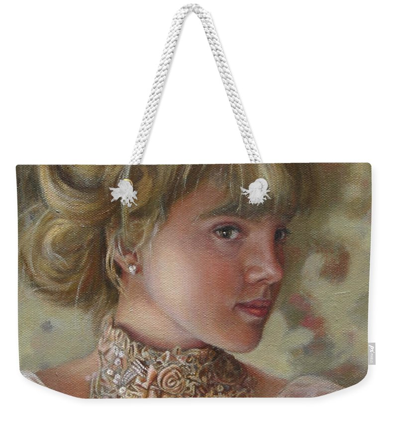 Figurative Art Weekender Tote Bag featuring the painting Victorian Beauty by Portraits By NC