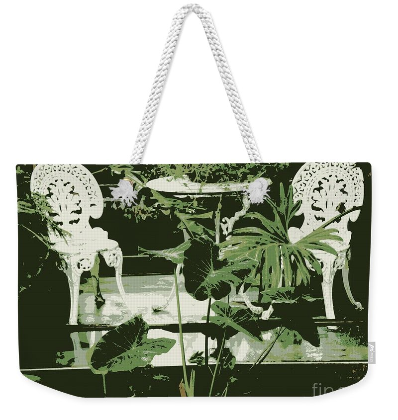 Victorian Weekender Tote Bag featuring the photograph Victorian Garden Poster by Carol Groenen