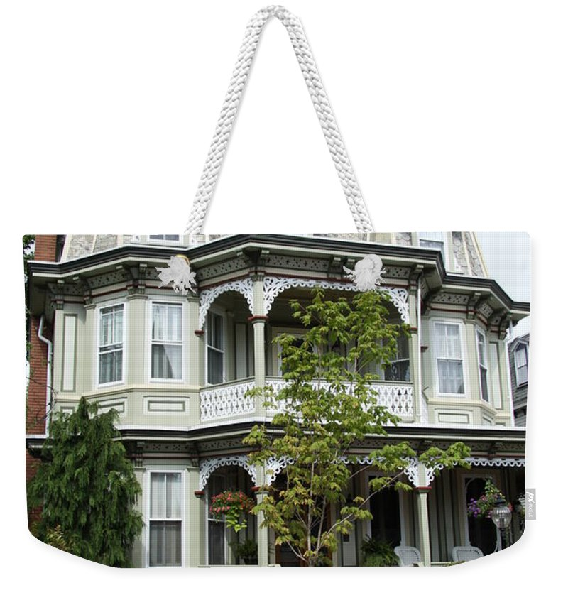 Victorian House Weekender Tote Bag featuring the photograph Victorian House by Christiane Schulze Art And Photography