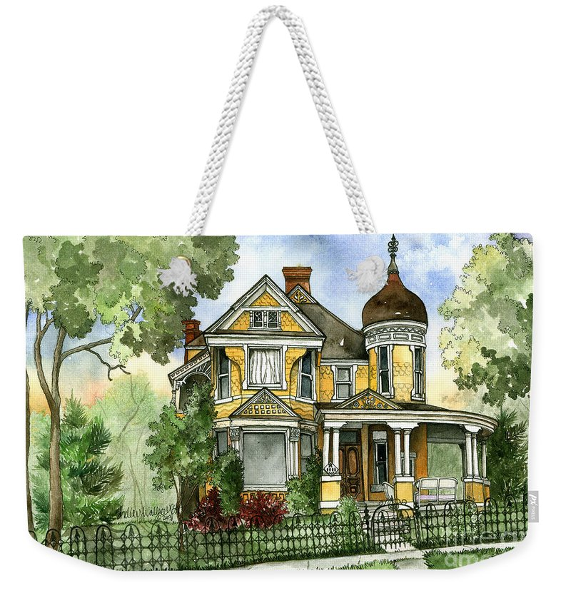 Victorian Weekender Tote Bag featuring the painting Victorian In The Avenues by Shelley Wallace Ylst