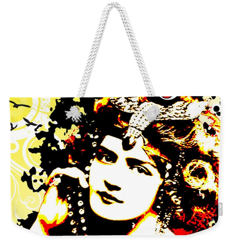 Nostalgic Seduction Weekender Tote Bag featuring the digital art Victorian Temptation by Chris Andruskiewicz